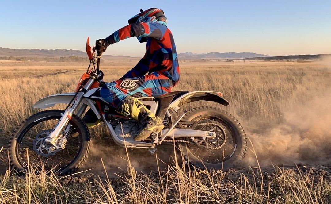 Riding dirt bikes cross country