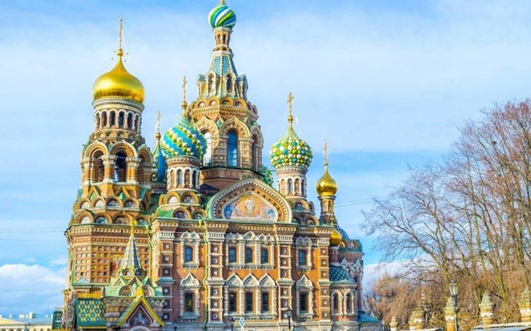 Tuyệt tác kiến trúc Nhà thờ xây trên máu ở Xanh Petecbua, Nga