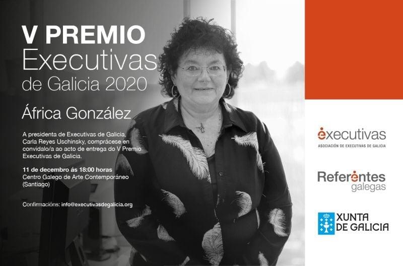 Entrega del V Premio Executivas de Galicia a África González