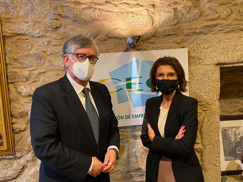 Executivas de Galicia reúnese co presidente da Confederación de Empresarios de Galicia