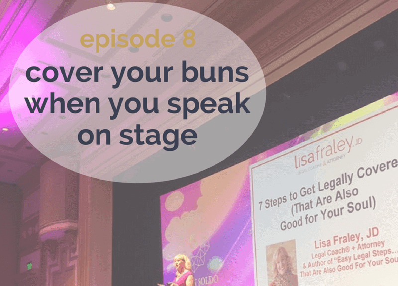 Cover your buns when you speak on stage