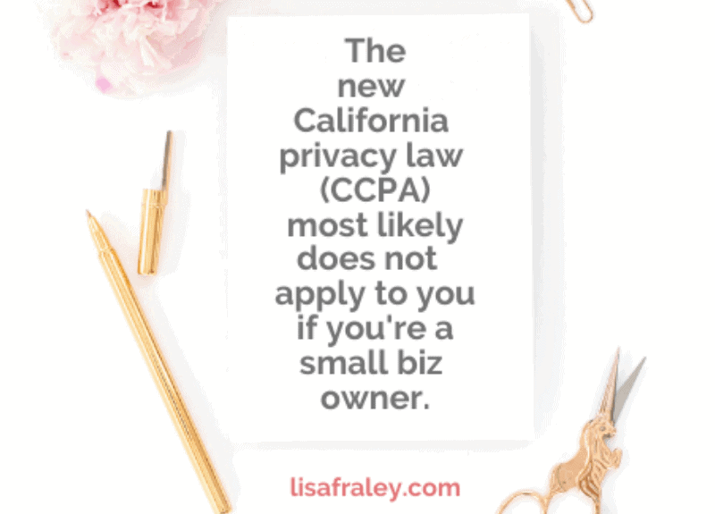 New California Privacy Law – It doesn't apply to you!