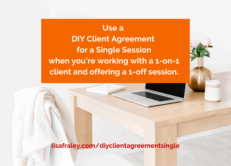 Offering a single session of your client services? Read this…