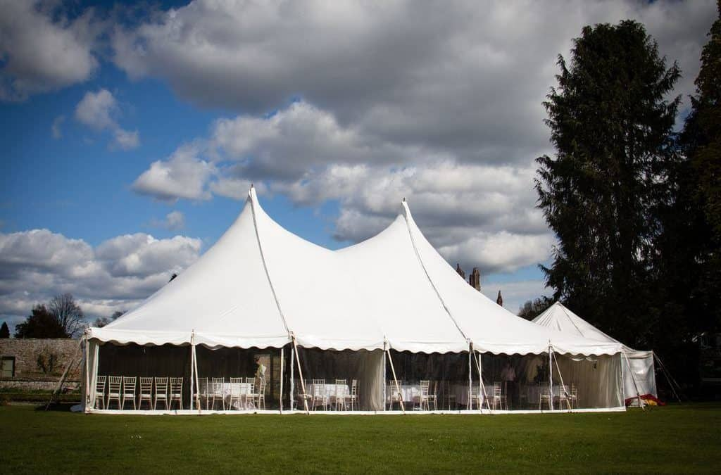 Small Wedding Marquee at Harmony House, Borders