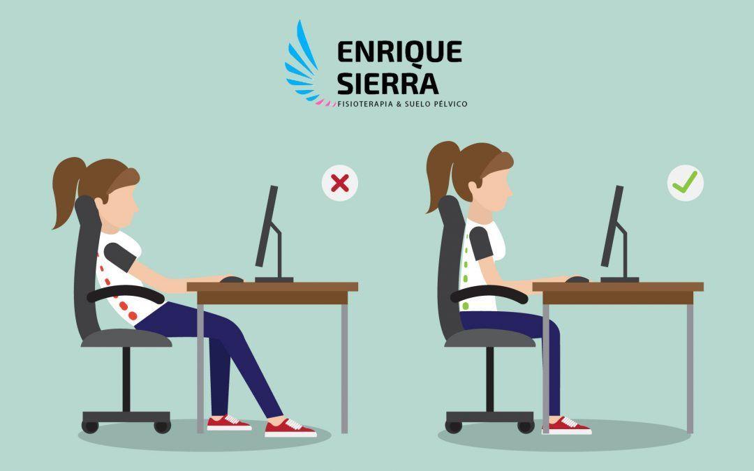 La postura correcta en la oficina