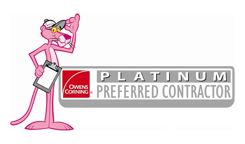 Watkins Construction and Roofing is an Owens Corning Platinum Preferred Contractor!