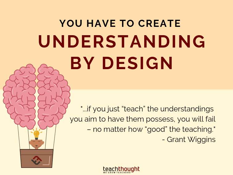 You Have To Create Understanding By Design