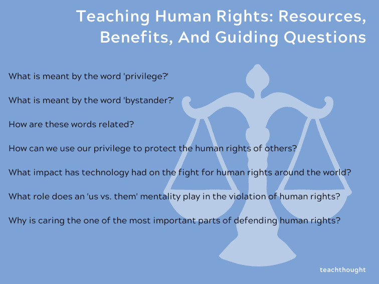 Teaching Human Rights: Resources, Benefits, And Guiding Questions