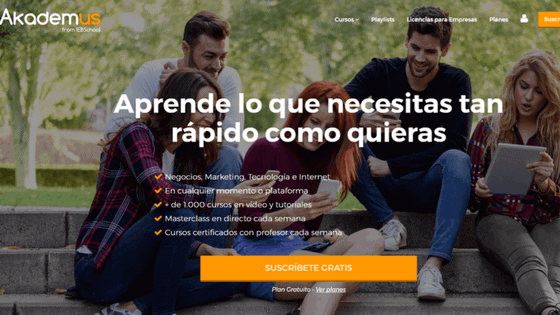 Nace Akademus, la 1ª academia digital con más de 1.500 cursos online gratuitos