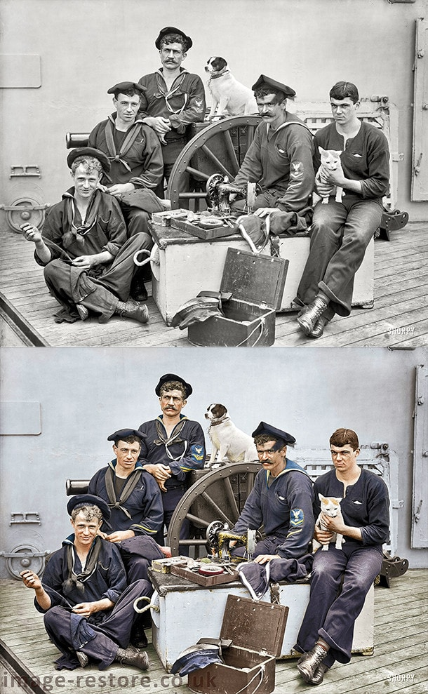 Old photos in colour