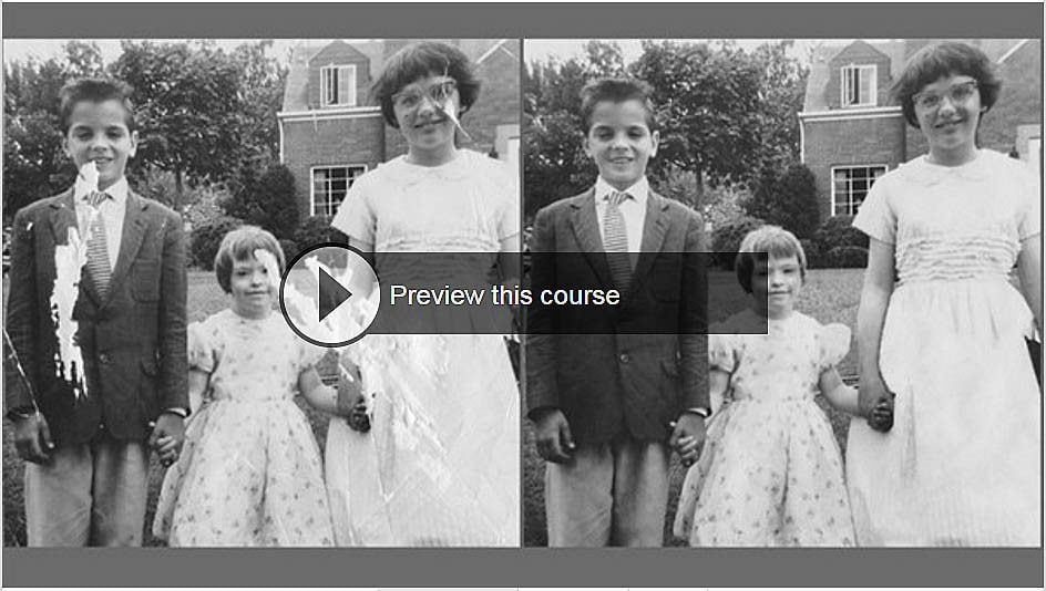 Photo restoration course, recreating missing pieces