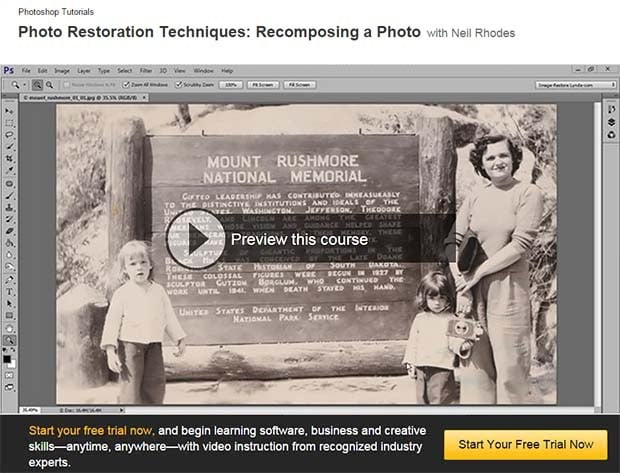 How to recompose an old photo – video tutorial