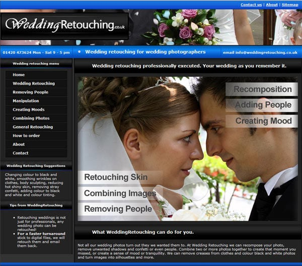Wedding retouching for wedding photographers