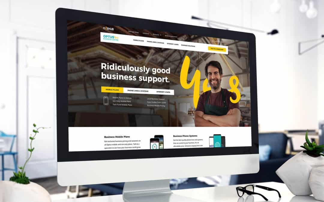 Bold Web Design's mock-up of website copy for Optus Yes Business