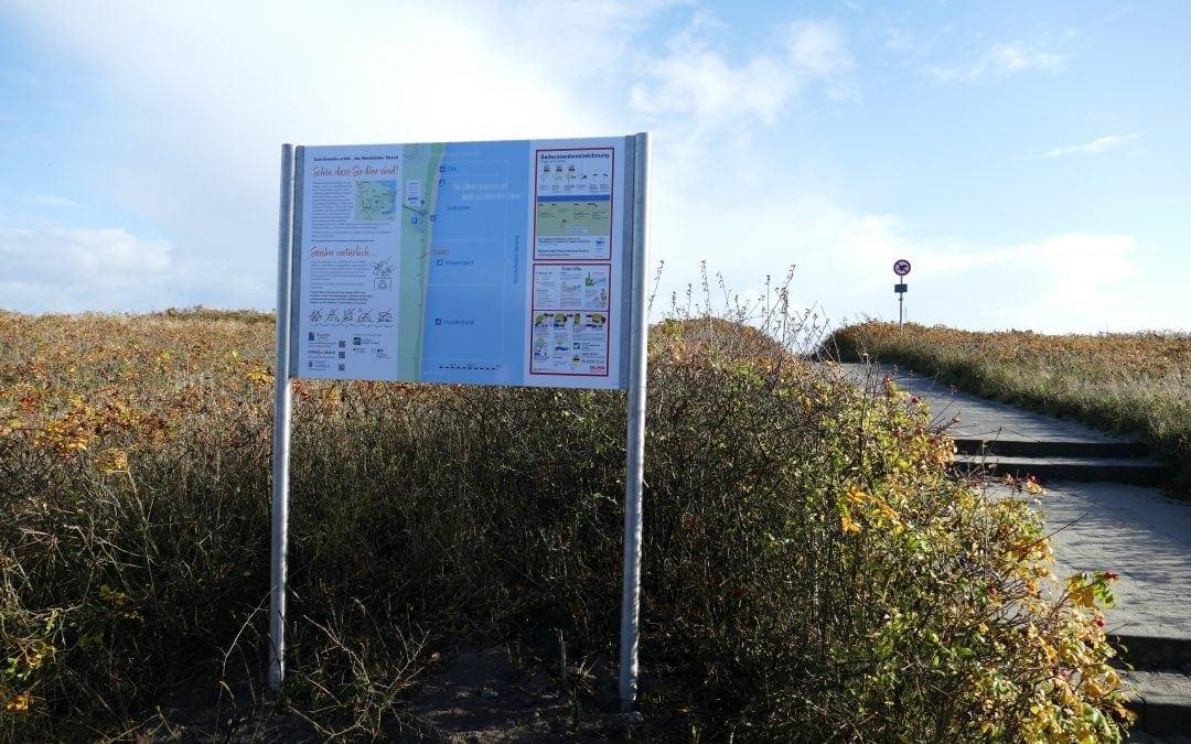 Neuordnung der Strandabschnitte am Weidefelder Strand und Nutzerlenkung durch Beschilderung der Strandübergänge