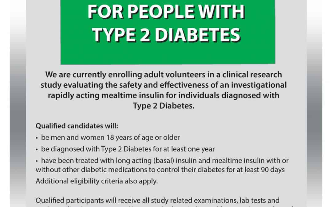 An Insulin Study Opportunity for People with Type 2 Diabetes