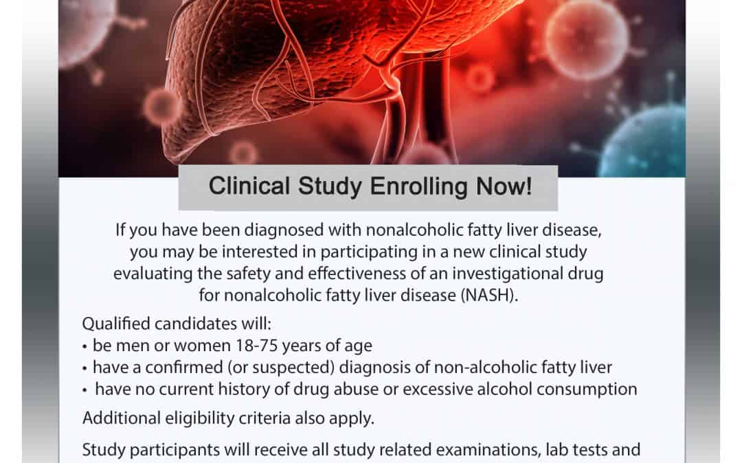 Fatty Liver Disease (NASH) Clinical Research Study