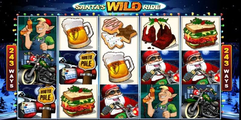 Free Santas Wild Ride XMAS Pokies Slot Game