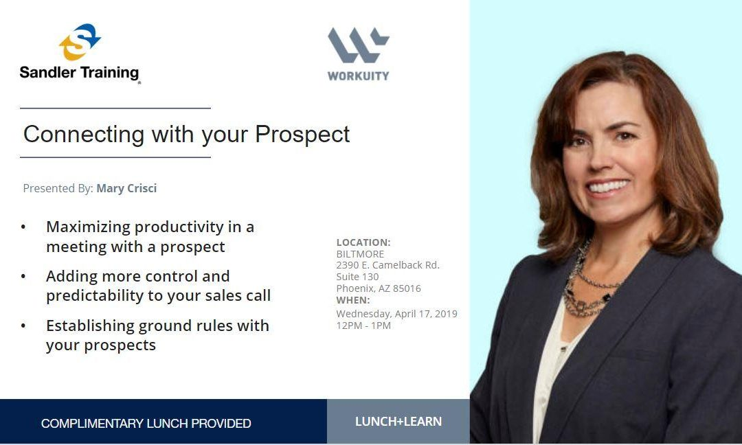Connecting with your Prospect: Lunch & Learn with Mary Crisci