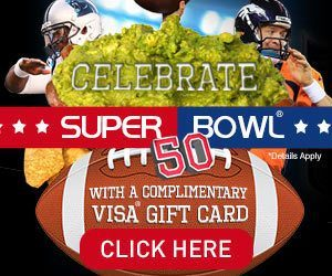 Be A SUPER BOWL WINNER – CELEBRATE SUPER BOWL 50 with a COMPLIMENTARY VISA GIFT CARD