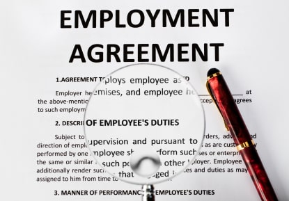 Employment Agreements: If you sign, you're generally bound