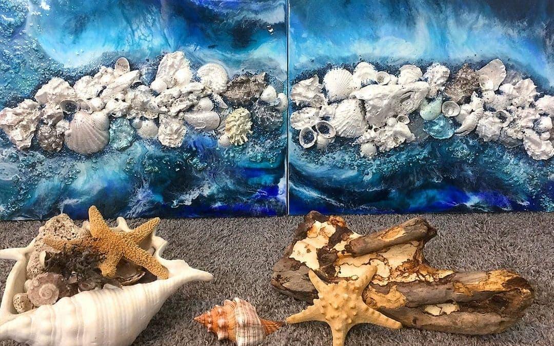 Beach Art – Resin Art Tutorial with Textures