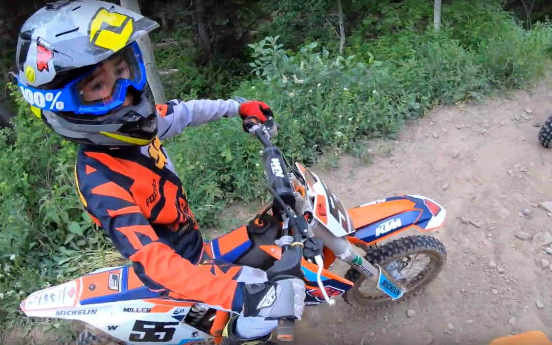8 year old on motocross bike