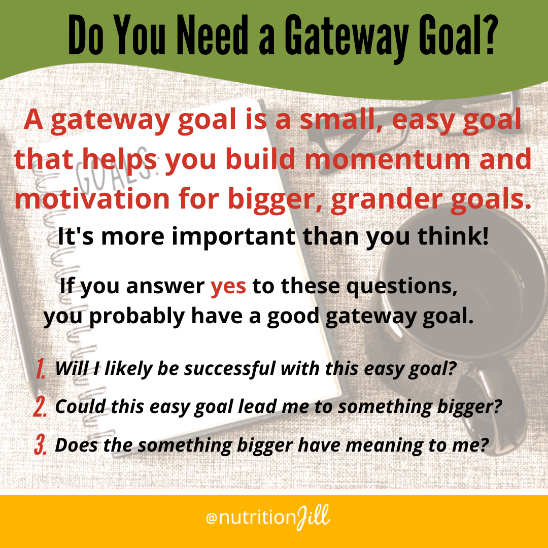 3 questions to help you find your gateway health goal