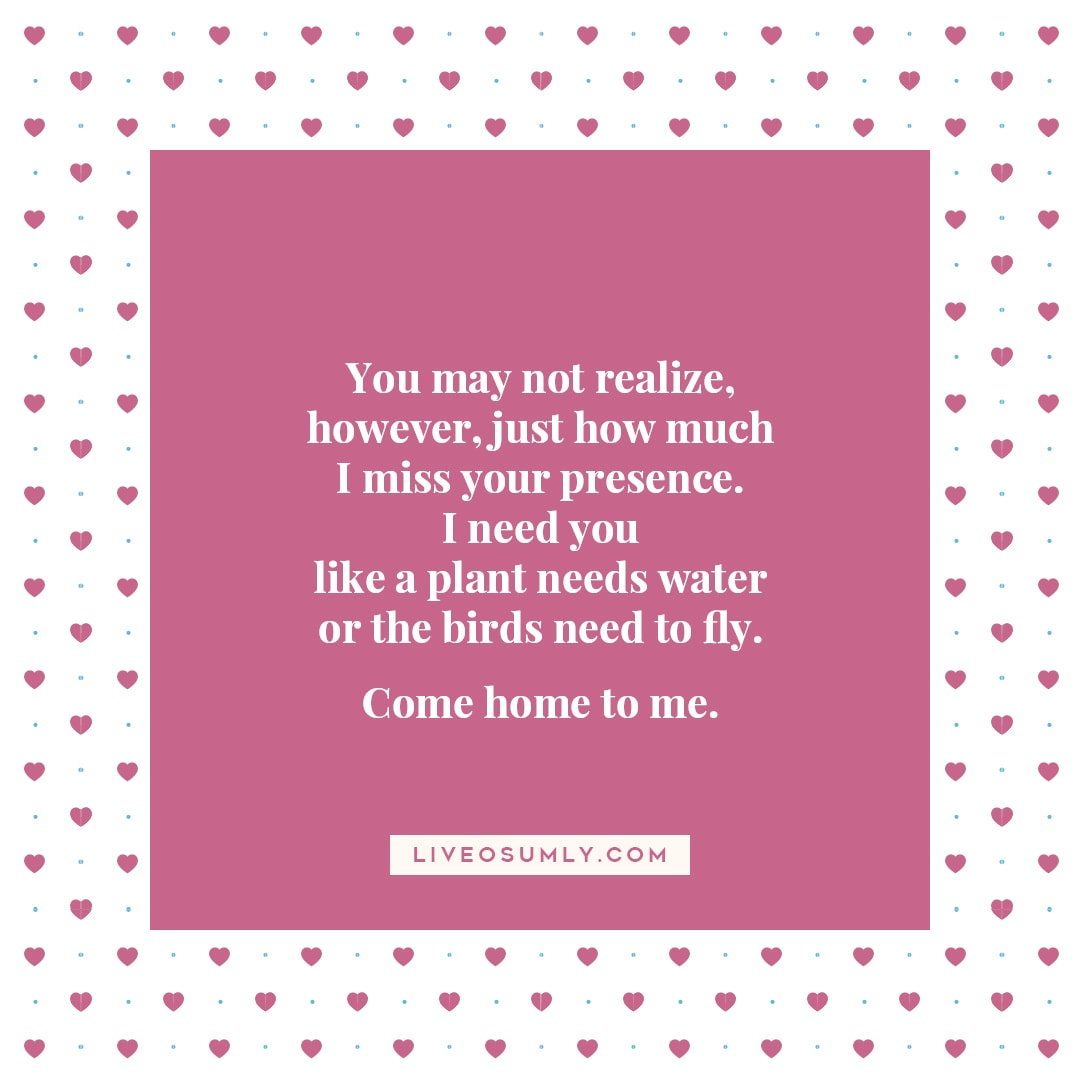 1. Long Distance Relationship Quotes for Her - I Miss Your Presence