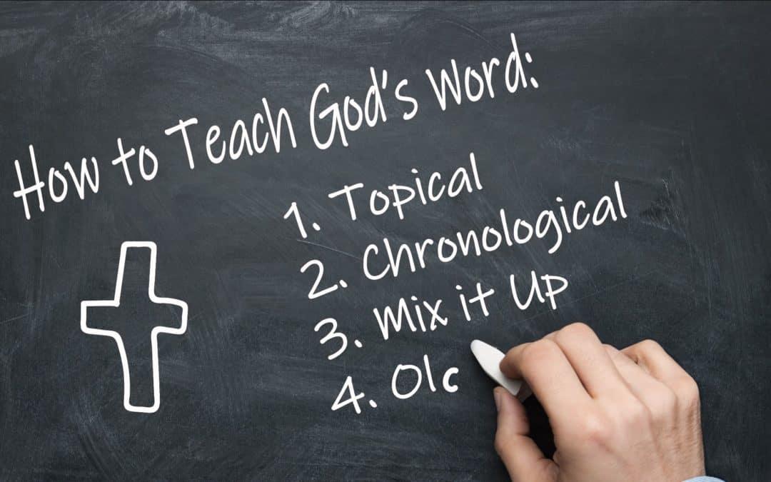 How to Best Teach Kids God's Word