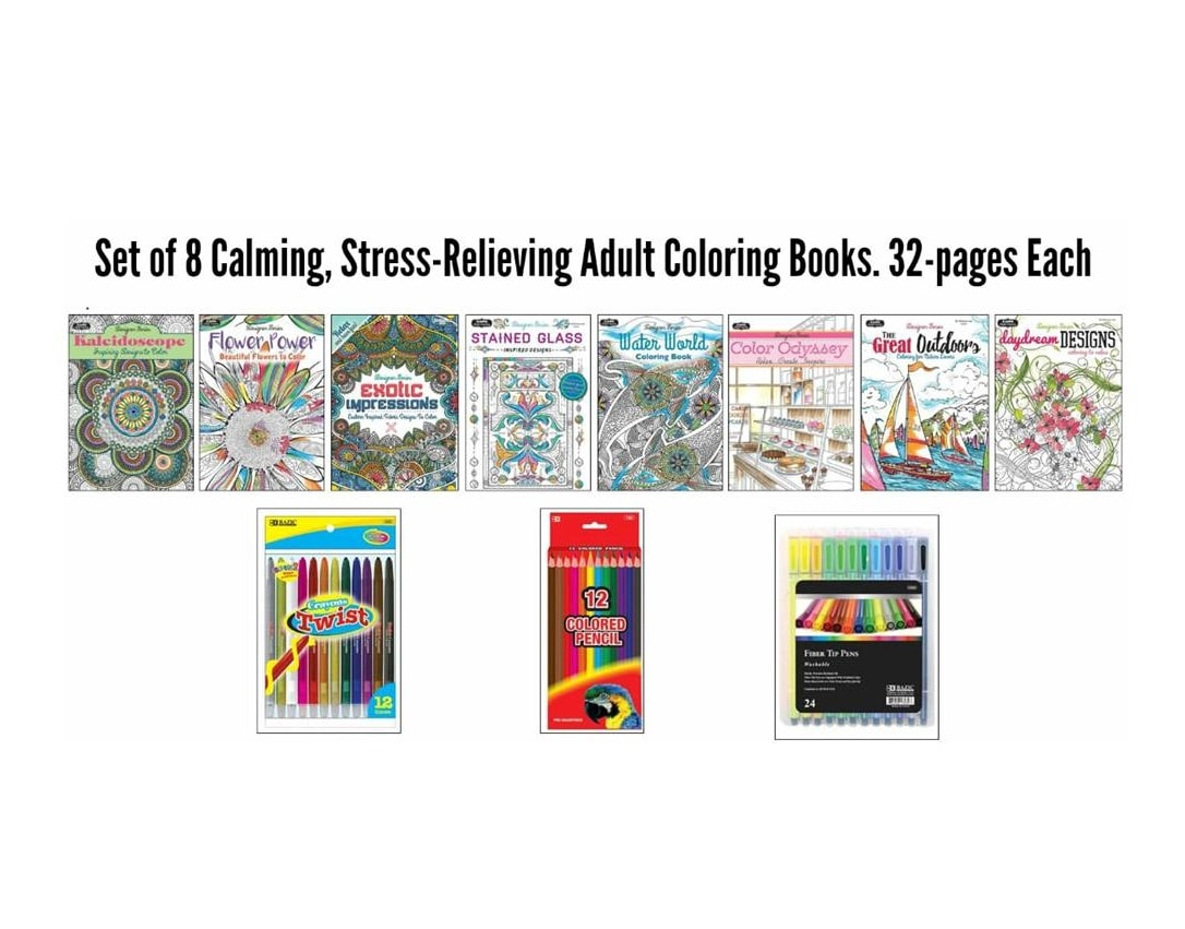 adult coloring books ASST