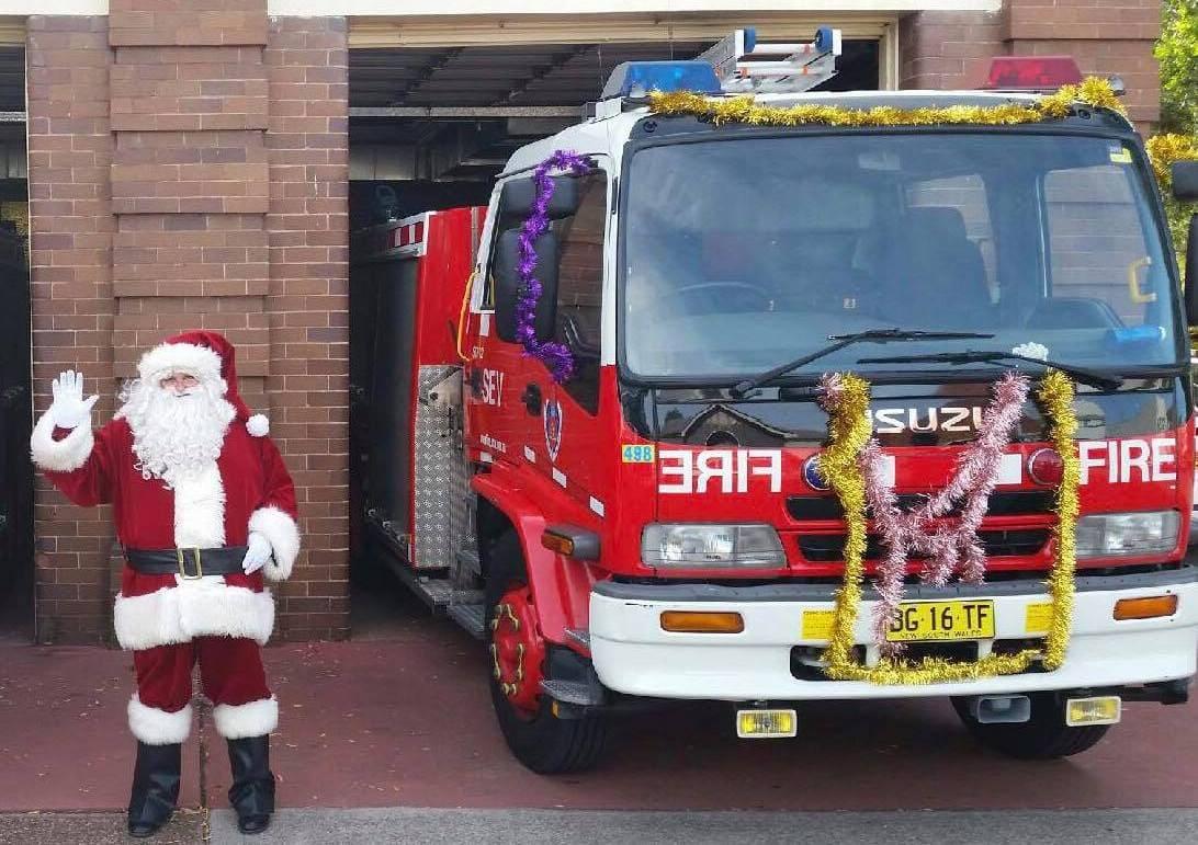 Santa Run Fire Truck Newcastle