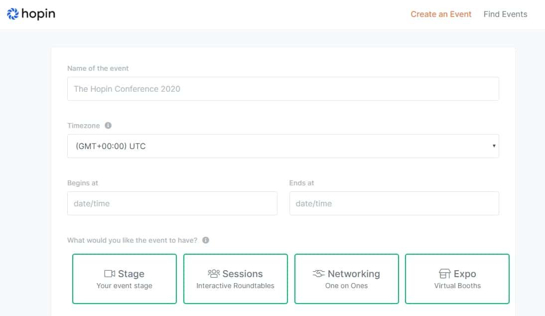 Virtual Events Management Platform Planning