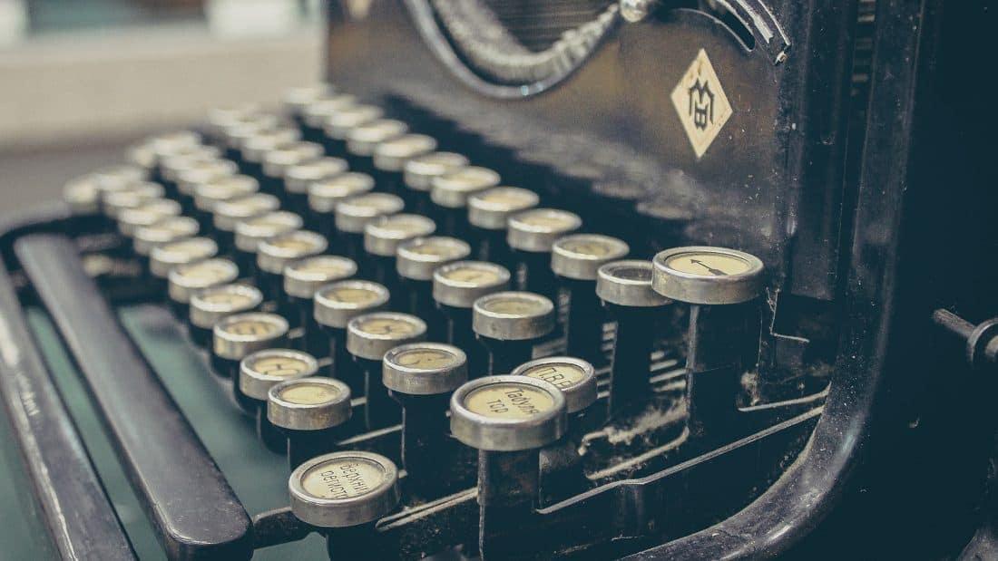 Carta intenciones - Maquina escribir