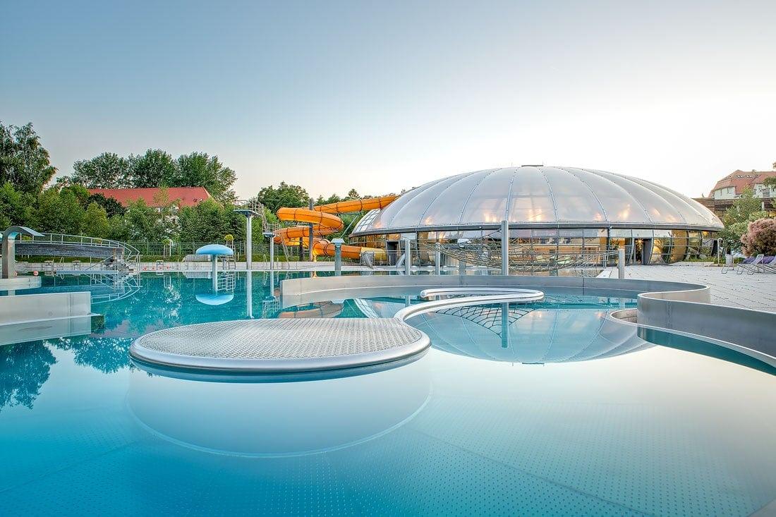 architektur bilder freiberg, Schwimmbad, Freibad