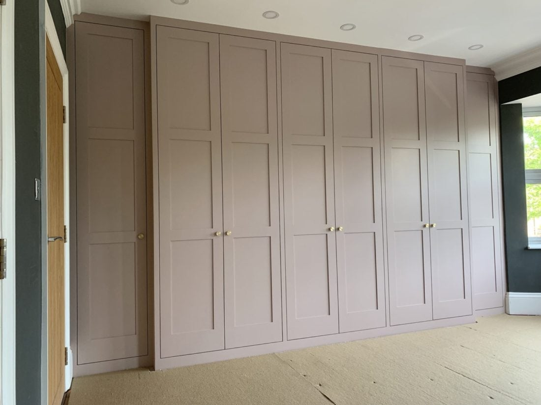 Contemporary shaker style made to measure wardrobe