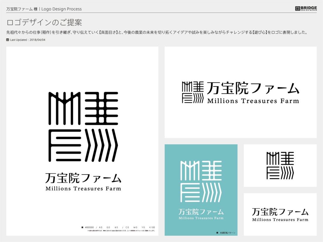 万宝院ファーム ロゴデザイン提案資料 01