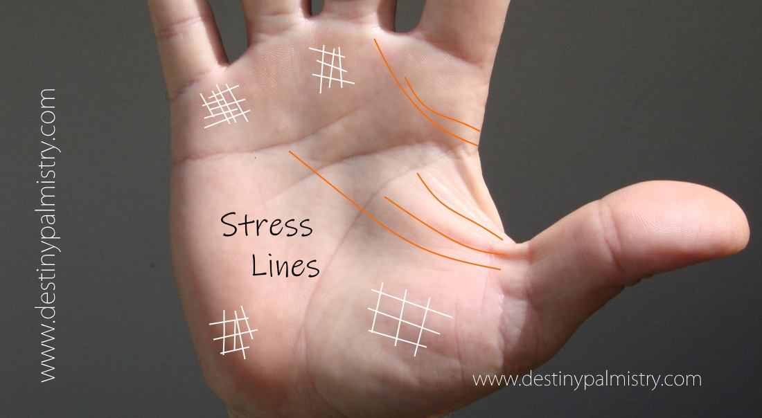 stress lines, palmistry lines