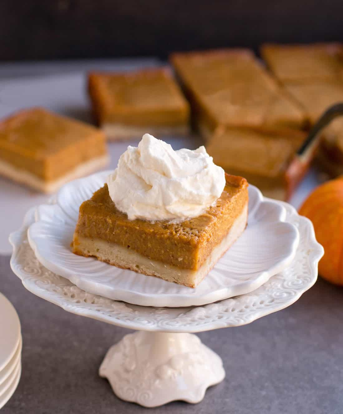 Pumpkin Pie Shortbread Bars. Instead of making a traditional pie crust, bake your pumpkin pie on top of a layer of tender shortbread.