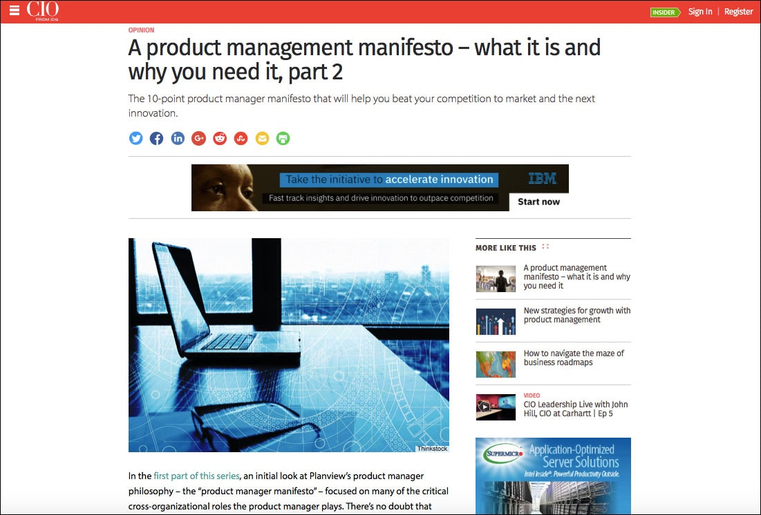 A Product Management Manifesto - what it is and why you need it, part 2