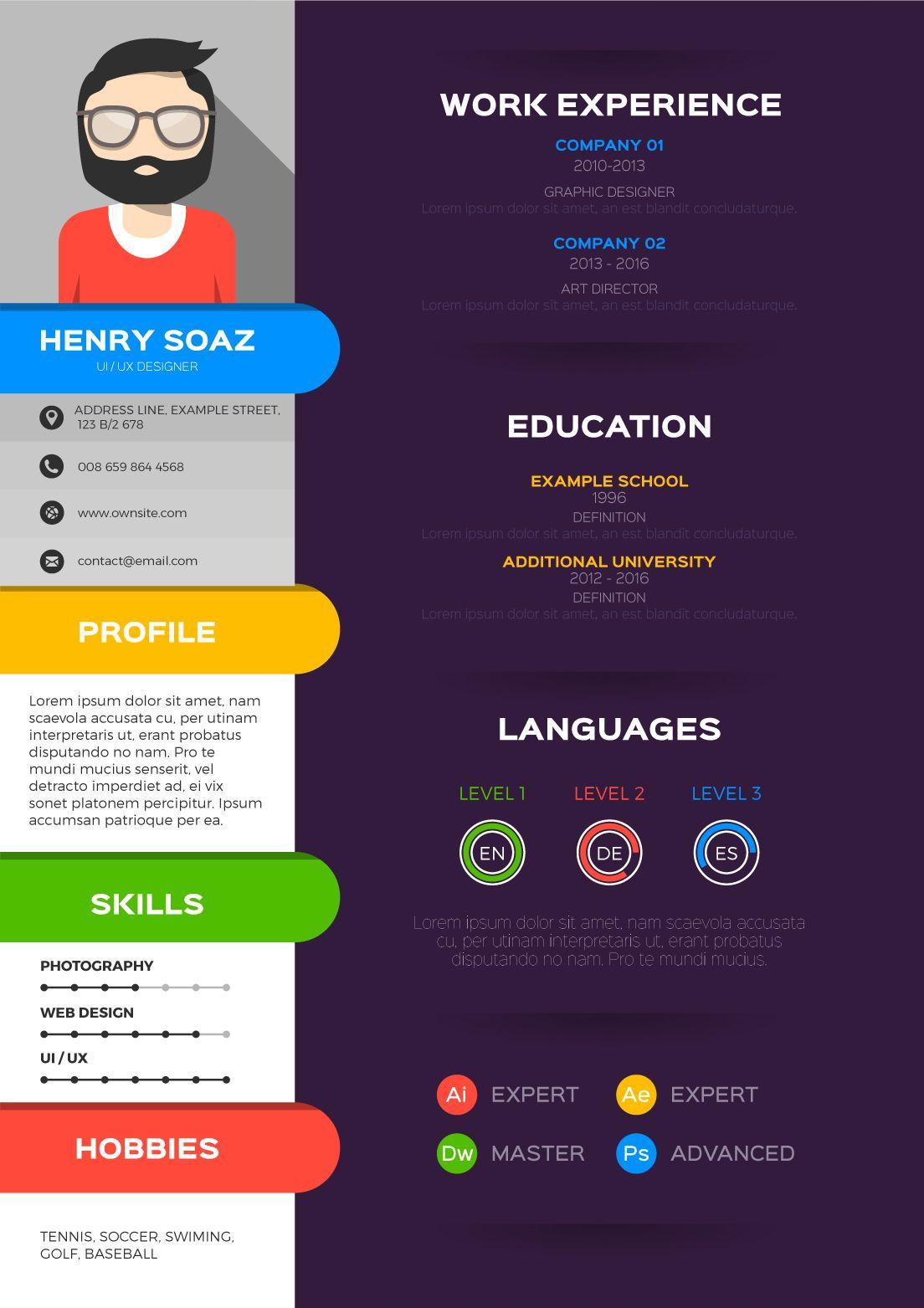 Ejemplo curriculum infografico