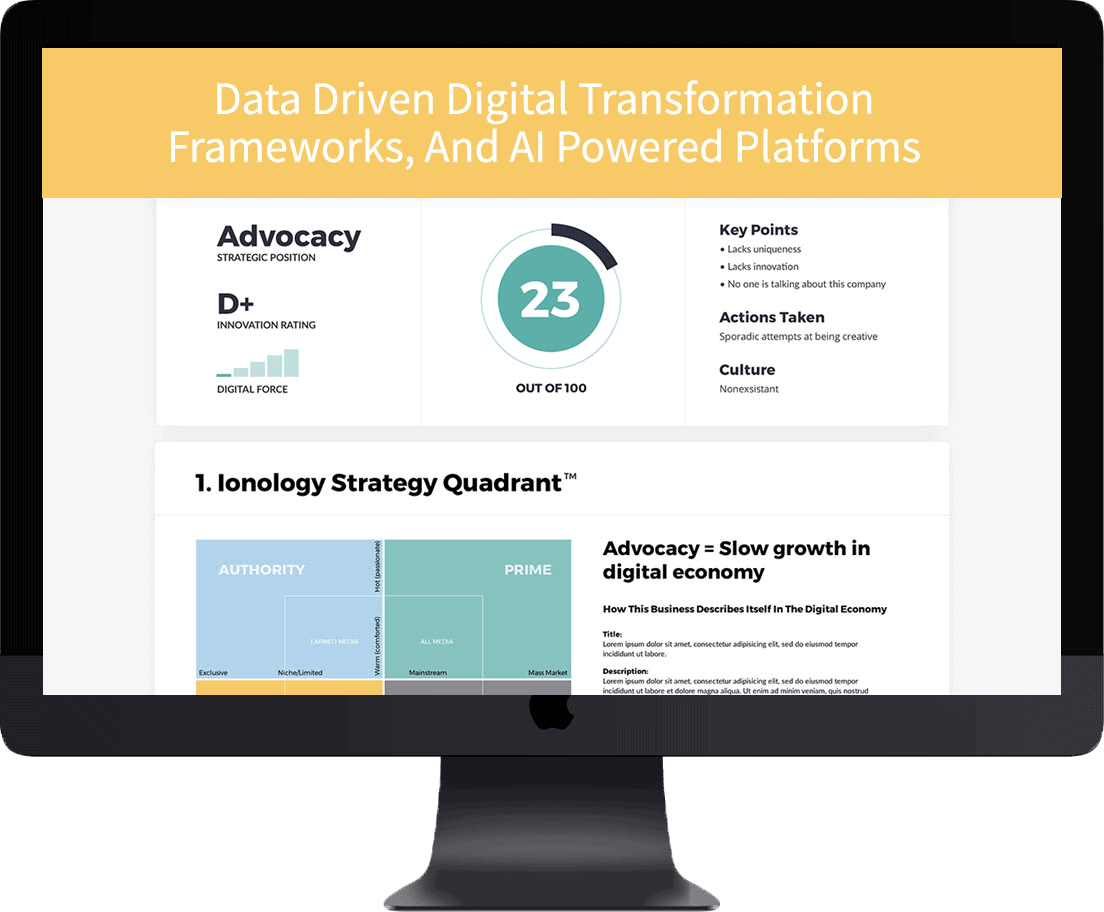 Screen digital transformation framework