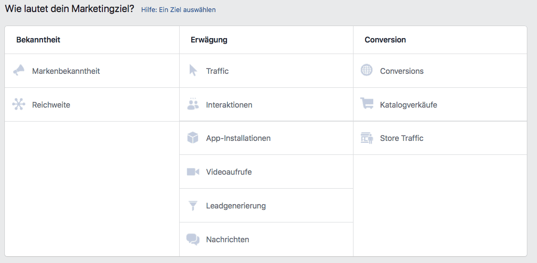 Facebook Veranstaltung Kampagnenziel