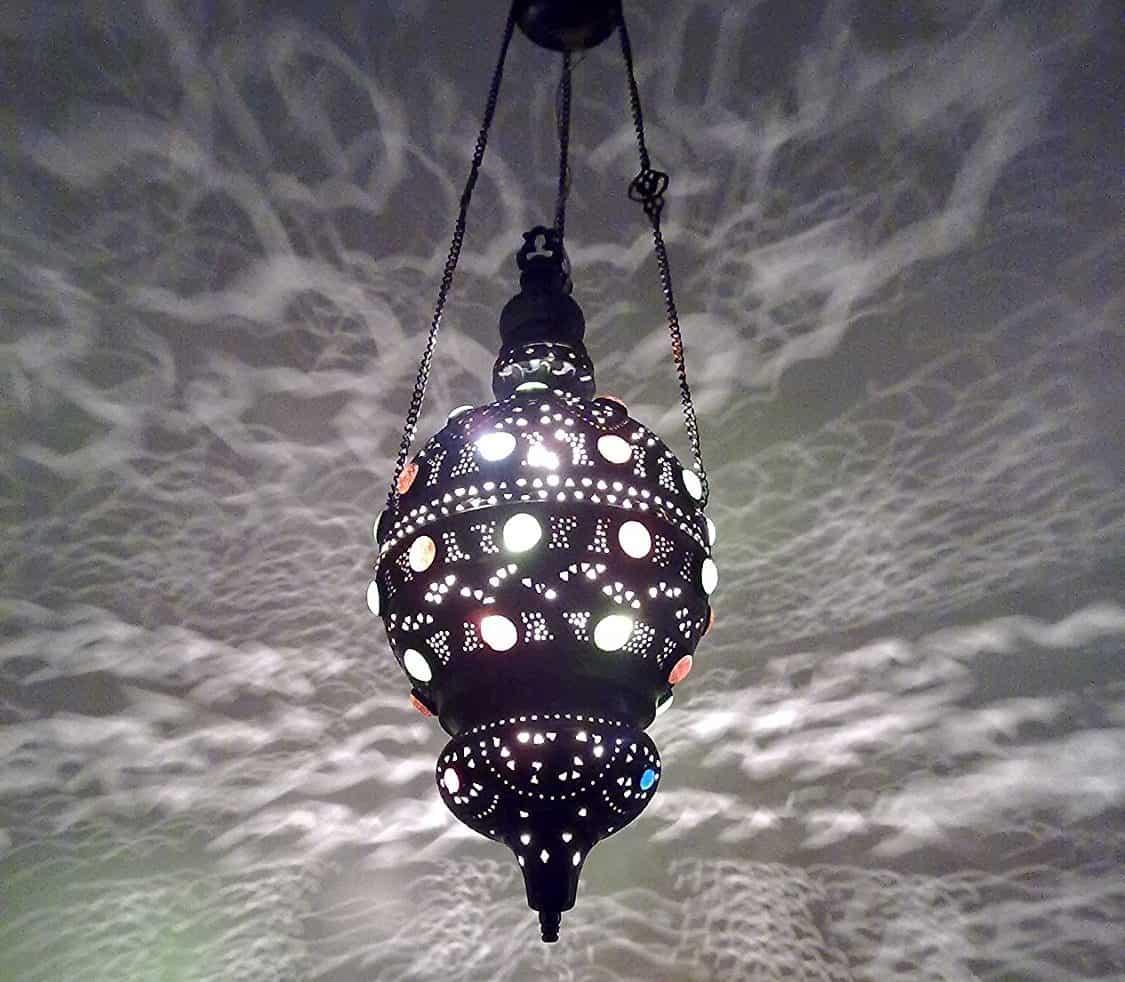Antique Style Handmade Moroccan Brass Pendant Sphere Lamp