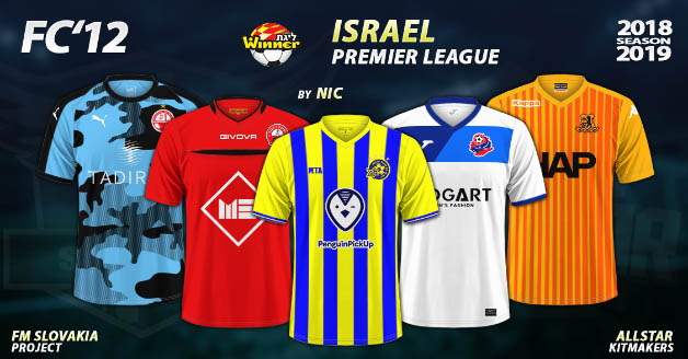 Football Manager 2019 Kits - FC'12 – Israel – Premier League 2018/19