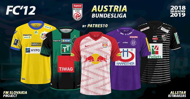 Football Manager 2019 Kits - FC'12 – Austria – Bundesliga 2018/19