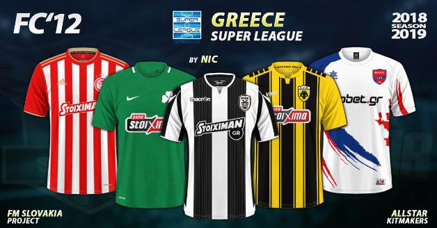 Football Manager 2019 Kits - FC'12 – Greece – Super League 2018/19