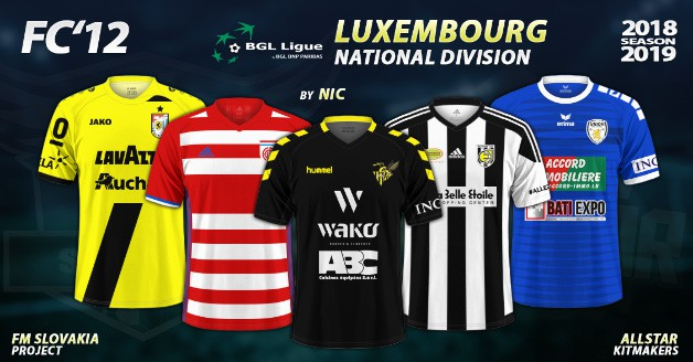 Football Manager 2019 Kits - FC'12 – Luxembourg – National Division 2018/19