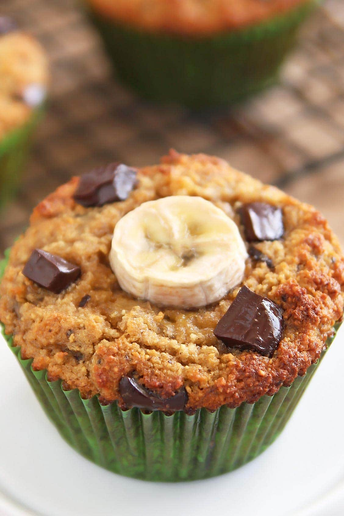 Coconut Flour Chocolate Chip Banana Muffin