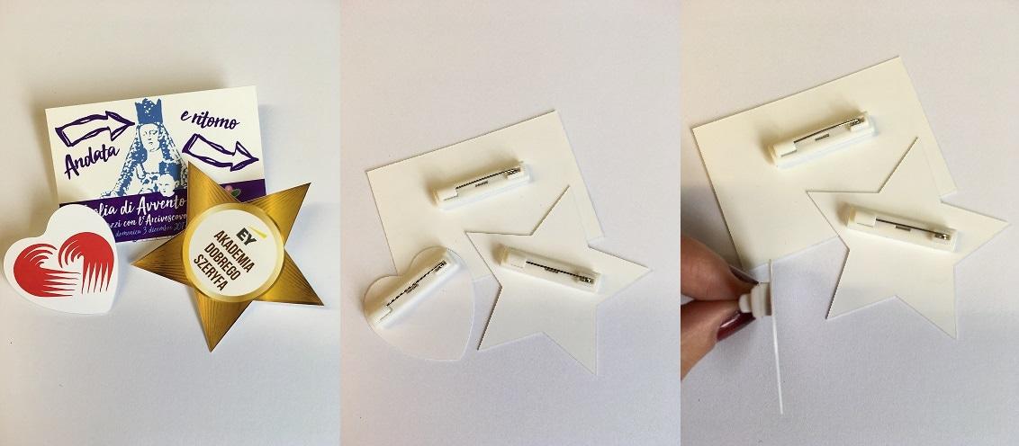 Przypinki o dowolnym kształcie